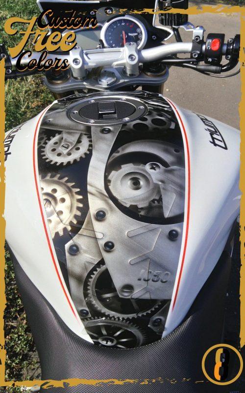 custom3colors peinture moto aerographe personnalisée harley davidson triumph